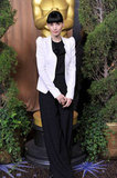 Rooney Mara in black and white at the 2012 Oscar nominees lunch.