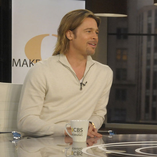Brad Pitt on CBS This Morning.