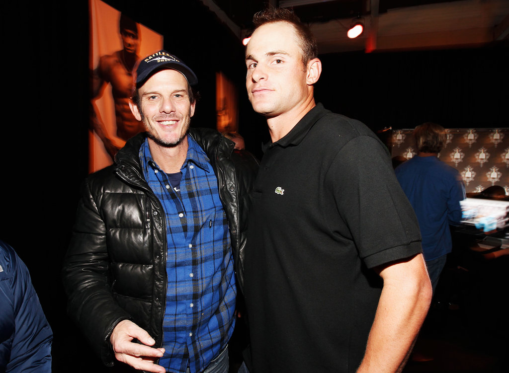 Peter Berg and Andy Roddick