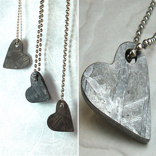 Meteorite Heart Necklace Picture
