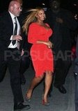 Beyonce Knowles showed her postbaby body in Alice by Temperley.
