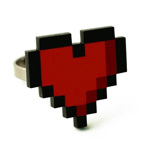 8-Bit Heart Ring ($8)