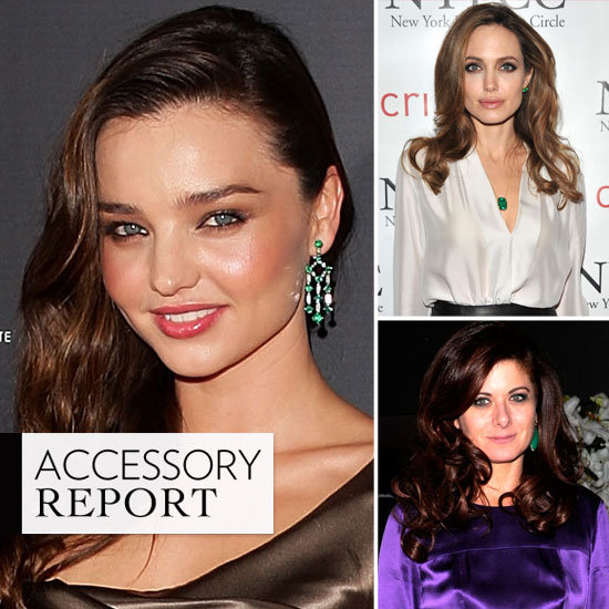 Celebrities Wearing Emerald Jewelry