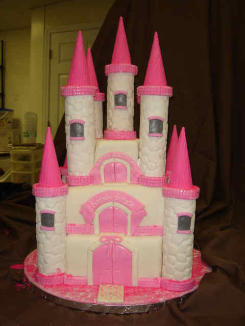 Pink Girls Princess Birthday Cakes