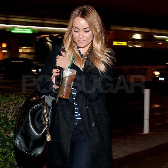 Lauren Conrad with Starbucks.