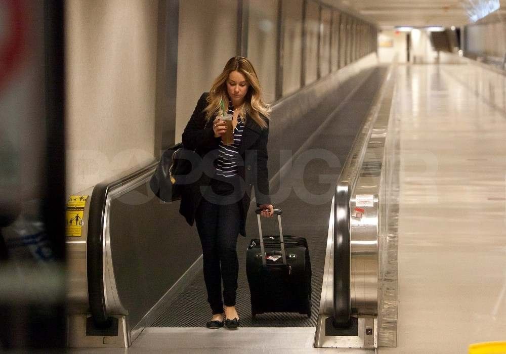 Lauren Conrad at the airport.