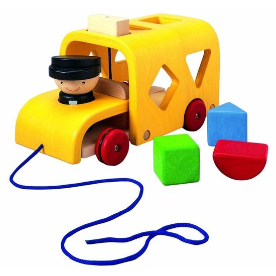 Plan Toys Sorting Bus ($30)