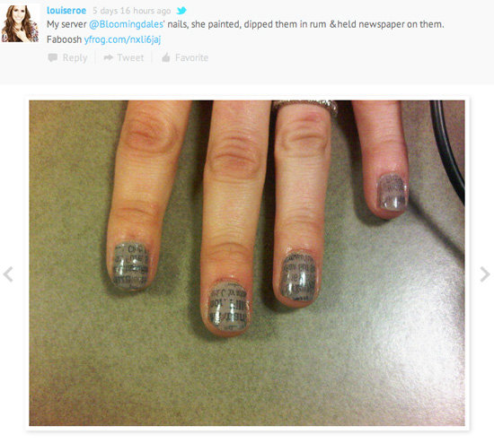 Louise Roe Tweets About Her Manicure