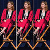 Judy Greer Bright Pink Suit