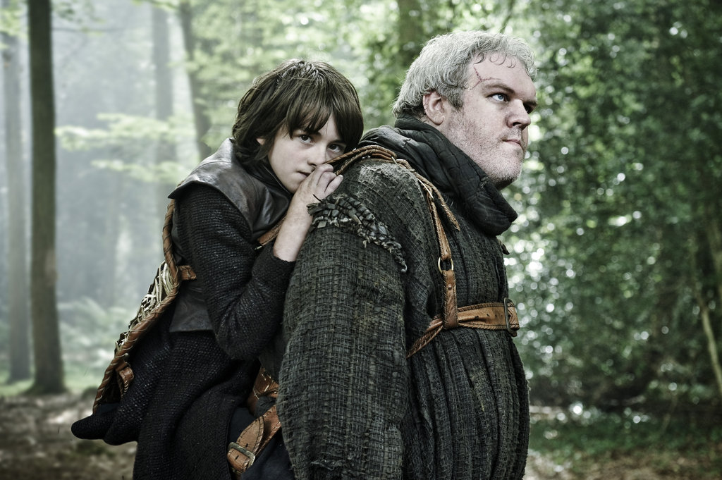 Issac Hempstead Wright as Bran Stark and Kristian Nairn as Hodor on Game of Thrones.  Photo courtesy of HBO