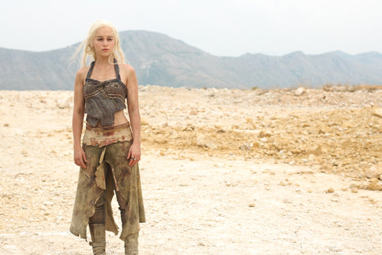 Emilia Clarke as Daenerys Targaryen on Game of Thrones.  Photo courtesy of HBO
