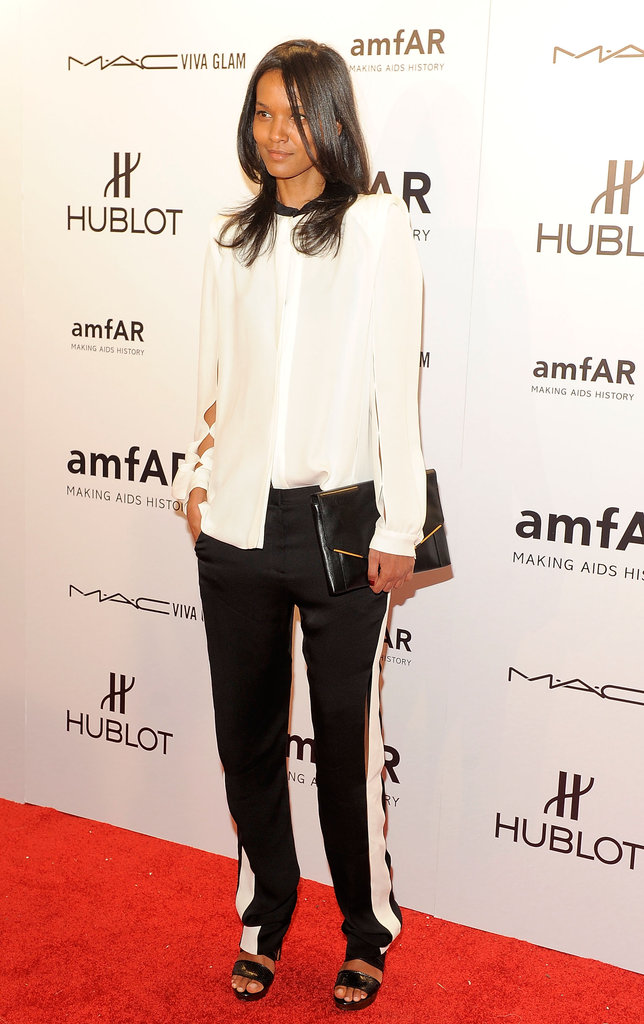 Liya Kebede attended the 2012 amfAR gala in NYC.