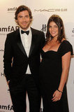 Pregnant Julia Restoin-Roitfeld and boyfriend Robert Konjic attended the 2012 amfAR gala in NYC.