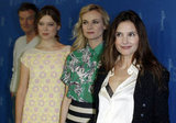 Diane Kruger, Virginie Ledoyen, and Lea Seydoux promoted Farewell My Queen.
