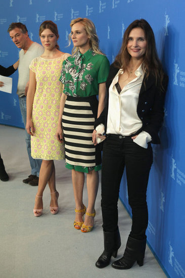 Diane Kruger, Virginie Ledoyen, and Léa Seydoux promoted Farewell, My Queen.