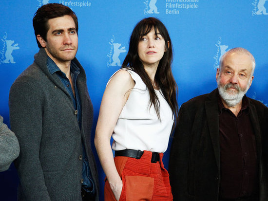 Jake Gyllenhaal, Charlotte Gainsbourg, and Mike Leigh posed at a Berlin International Film Festival photocall.