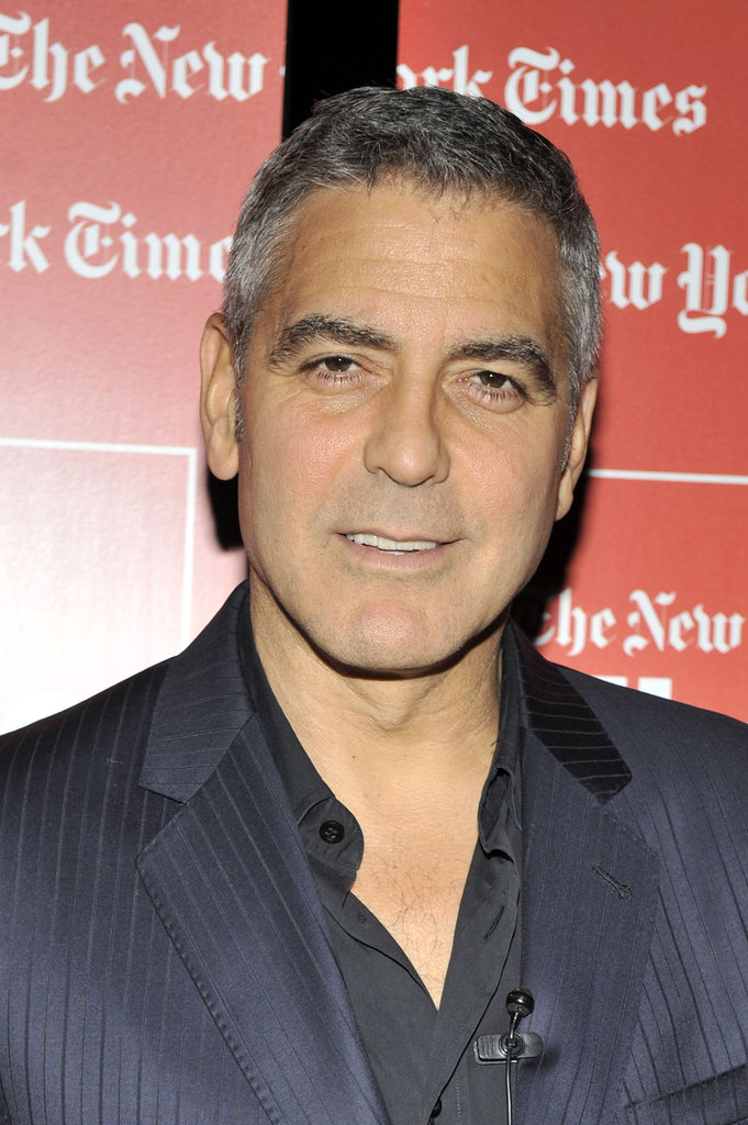"George Clooney sat down for a ""TimesTalks"" interview with New York Times journalist David Carr ."
