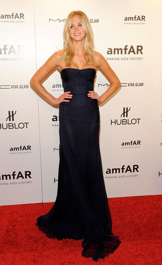 Erin Heatherton attended the 2012 amfAR gala in NYC.