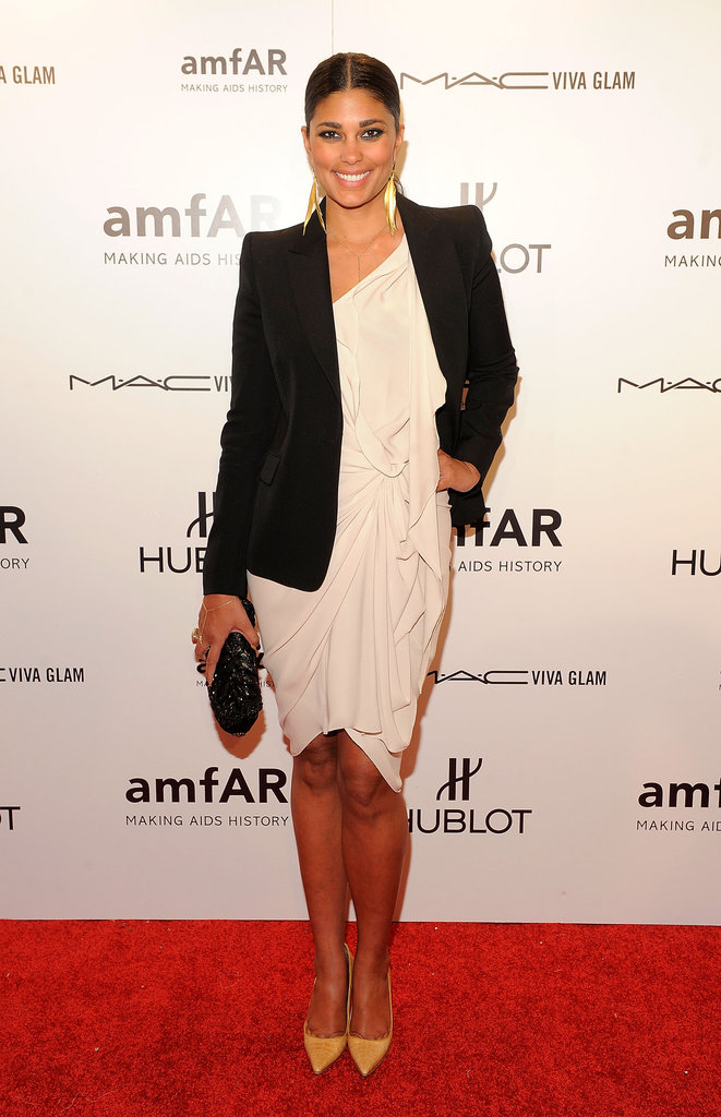 Rachel Roy attended the 2012 amfAR gala in NYC.