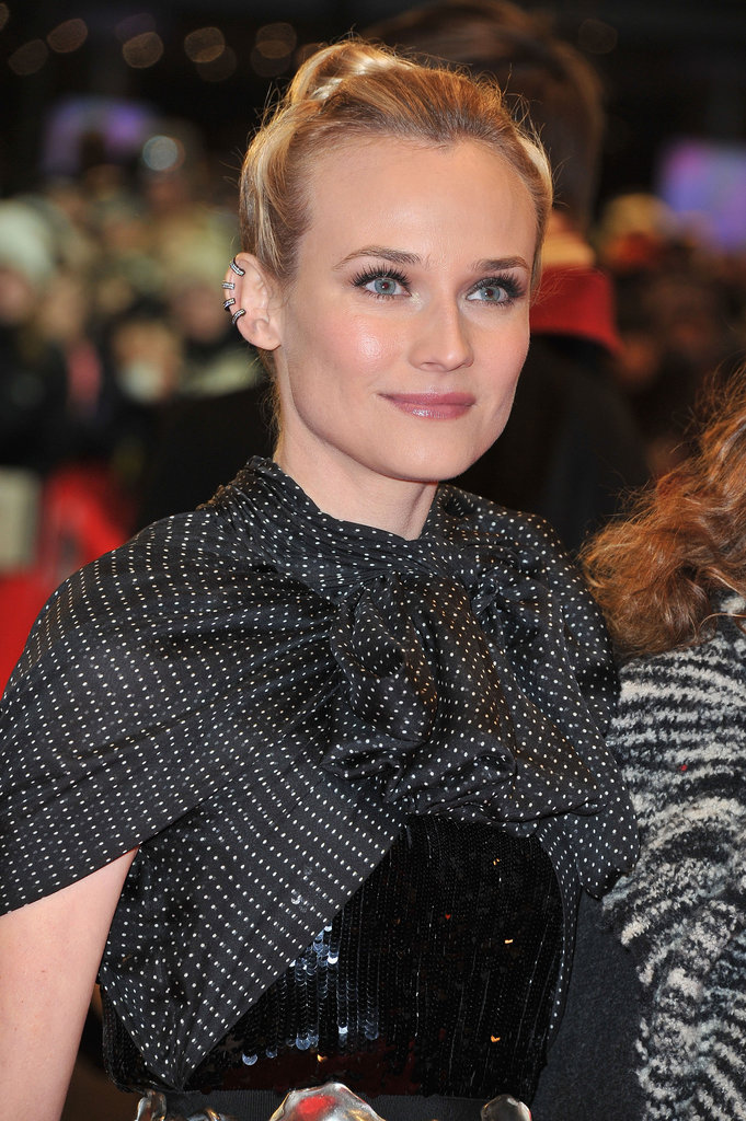 Diane Kruger wore a sophisticated bun.