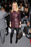 Amanda Hearst took front row at Richard Chai in burgundy-hued leather.