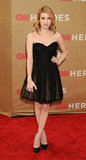 Emma looked event-perfect in a black and nude Maria Lucia Hohan frock at the CNN Heroes All-Star Tribute in December 2011.