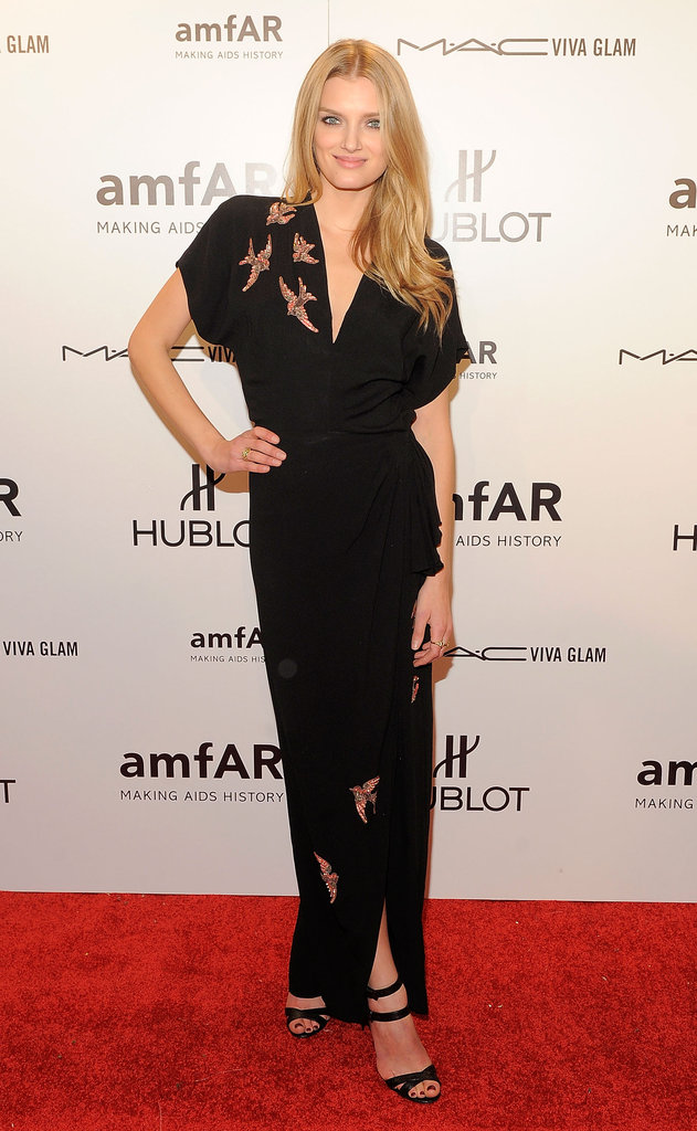 Lily Donaldson selected a kimono-style gown.