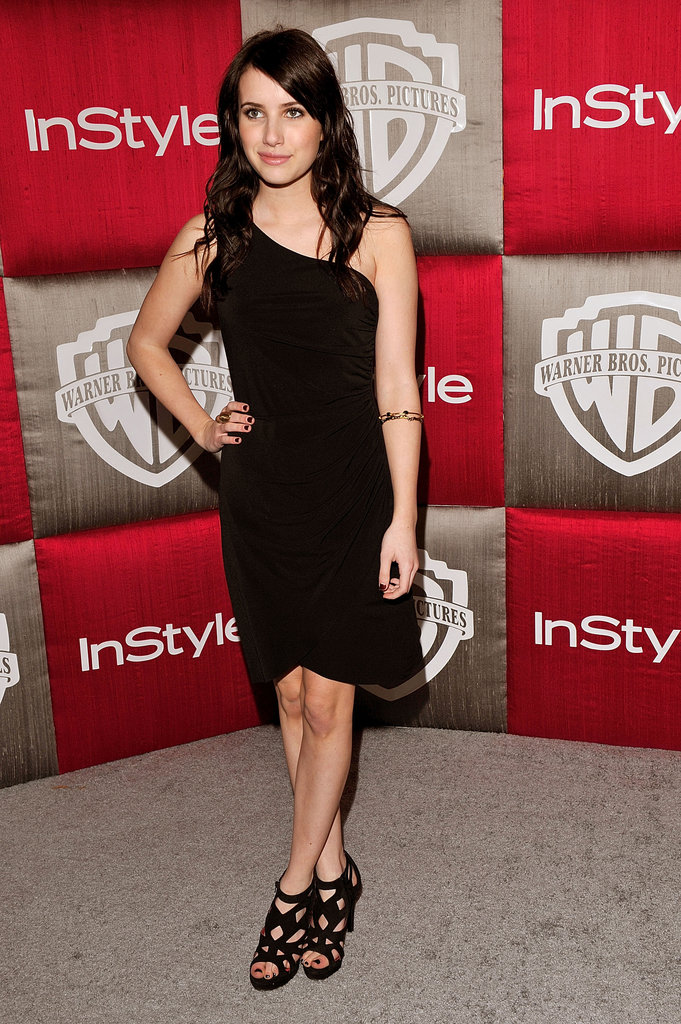 Emma slipped into a sultry one-shoulder LBD for the InStyle afterparty for the Golden Globes in January 2009.