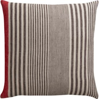 A modern take on a masculine print, this striped linen throw pillow ($39.95) is just as much at home in your living room as in your library.