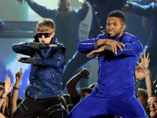 Justin Bieber and Usher were in synch on stage in 2011.