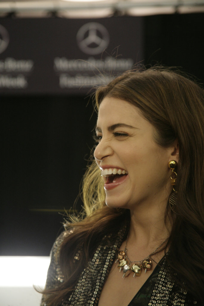 Look who stopped by for a visit: Twilight's Nikki Reed, who was obviously pumped to be there!