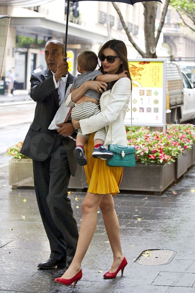 Miranda Kerr and Flynn Bloom were too cute.