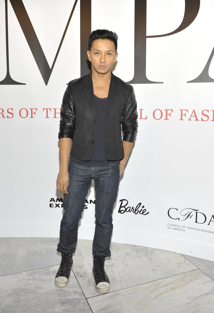 Prabal Gurung at CFDA's new exhibition at FIT.