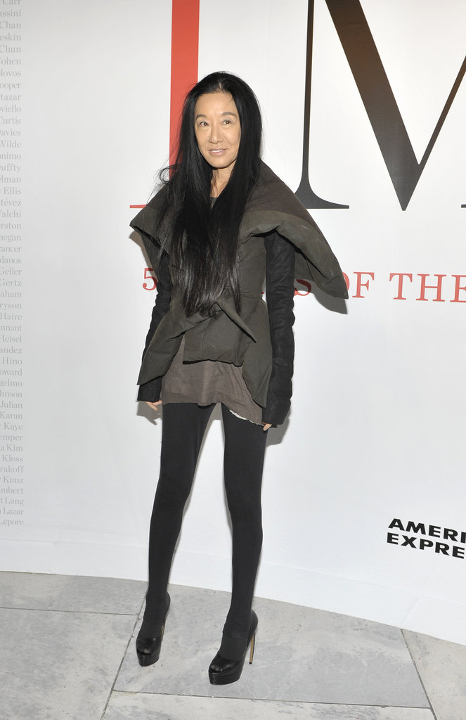 Vera Wang at CFDA Exhibition.