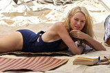 Naomi Watts on the beach.