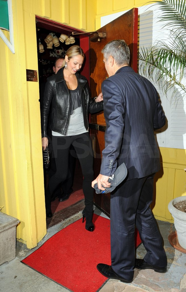 George Clooney and Stacy Keibler had a date night.