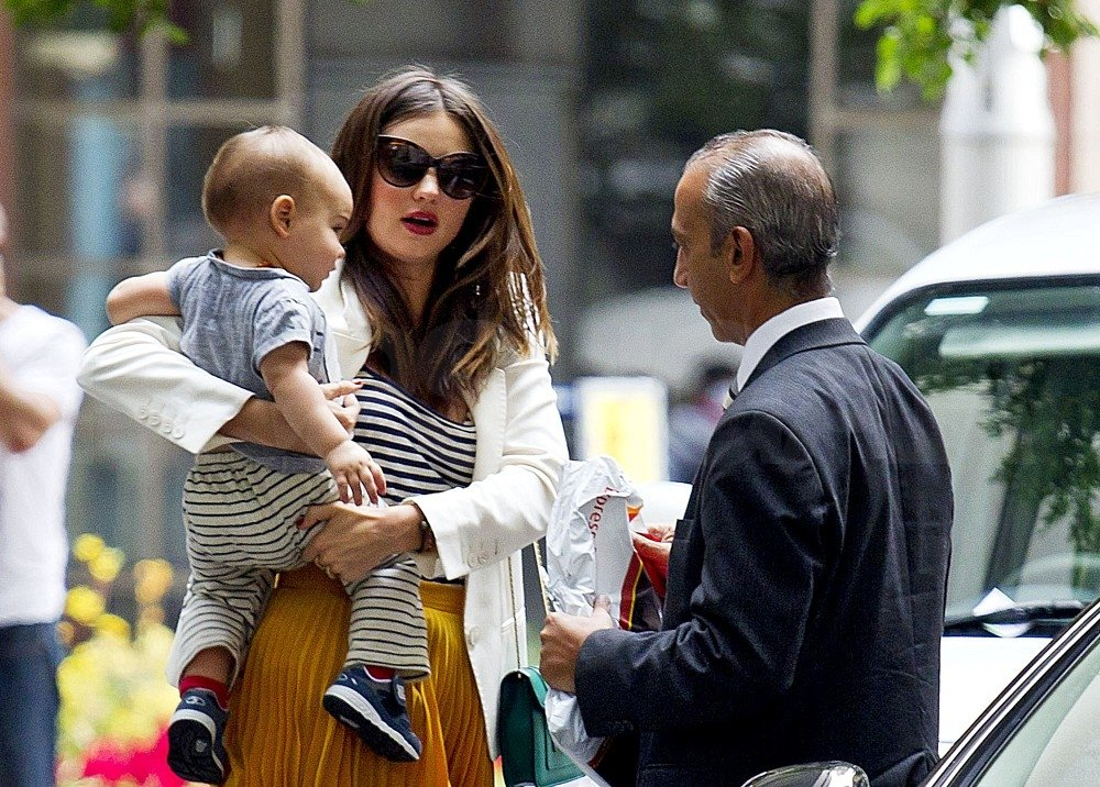 Miranda Kerr and Flynn Bloom went to UPS.