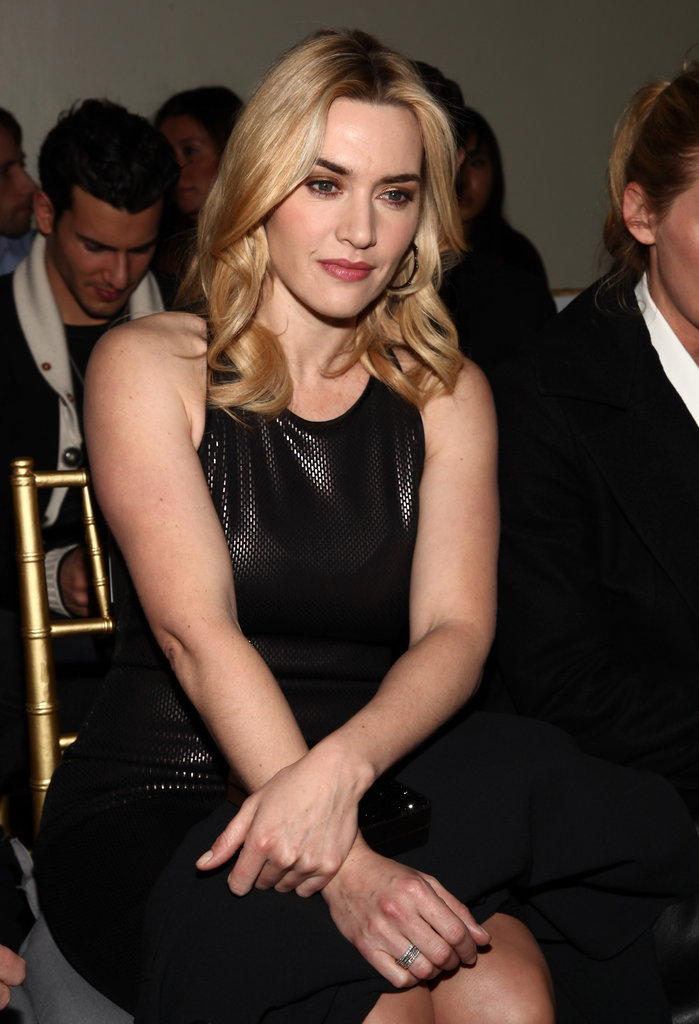 Kate Winslet Takes Her Front-Row Seat For St. John's NYFW Show