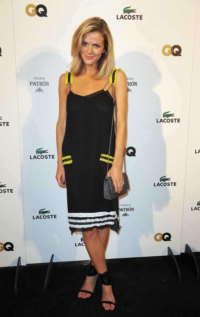 Brooklyn Decker celebrated the Super Bowl in Proenza Schouler.