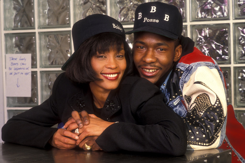 Whitney and Bobby Brown shared an engagement picture in 1992.