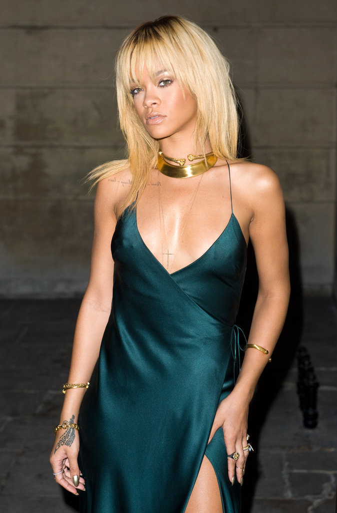 Rihanna at Stella McCartney's Fall 2012 presentation in London.