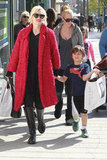 Gwen Stefani went shopping with son Kingston.