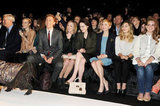 Laura Carmichael, Michelle Dockery, Michelle Williams, Lizzy Olsen, Lana Del Rey, and Tom Hiddleston watched Mulberry's show.
