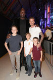 The Beckham boys met Shaquille O'Neal at the second annual Cartoon Network Hall of Game Awards in Santa Monica, CA, in February.