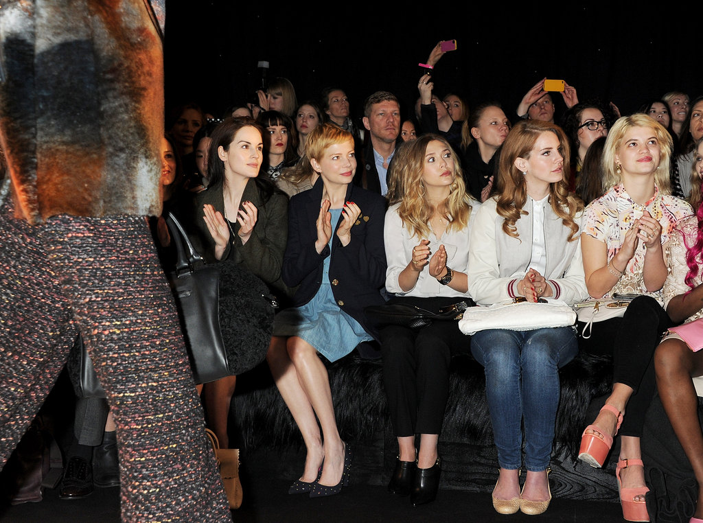 Laura Carmichael, Michelle Dockery, Michelle Williams, Lana Del Rey were at London Fashion Week.