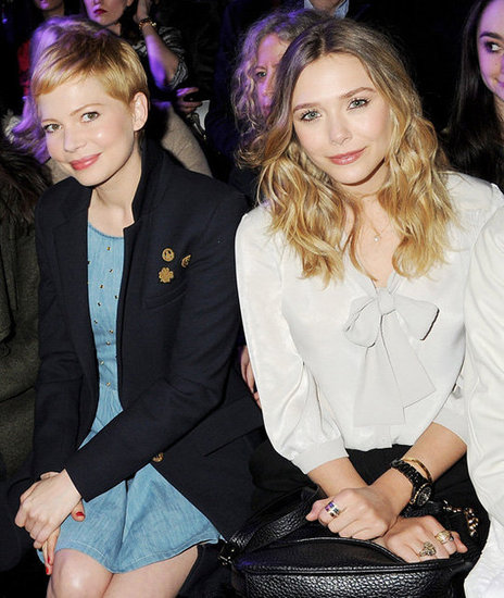 Michelle Williams and Elizabeth Olsen in the Front Row