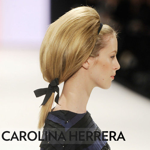 Carolina Herrera Fall 2012 Hair and Makeup