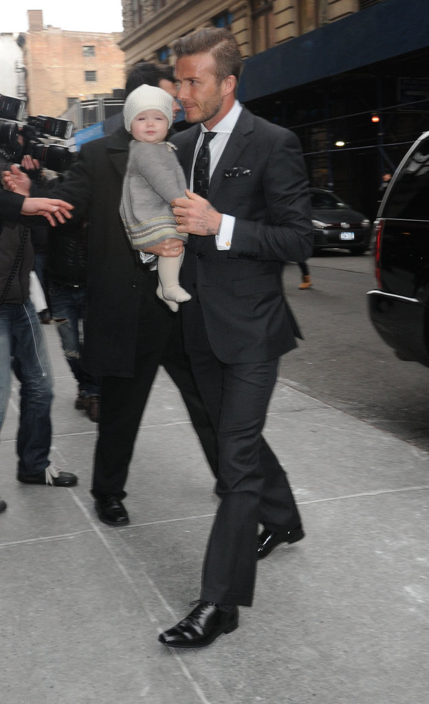 David Beckham and Harper Beckham were in NYC.