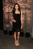 Nina Dobrev turned up for Christian Siriano's Saturday show.