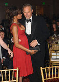 Whitney and her Bodyguard costar Kevin Costner hung out in 2008.